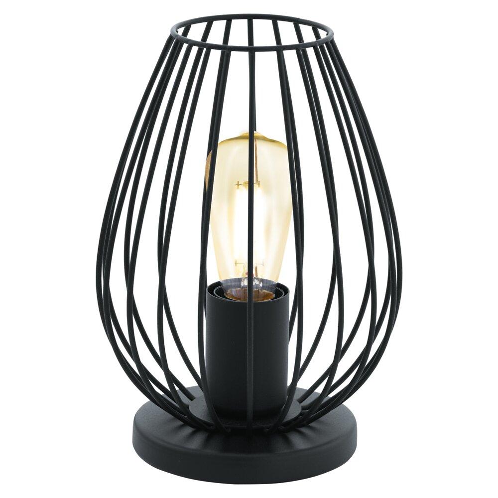 Lampe à poser 1L Newtown E27 60W métal noir