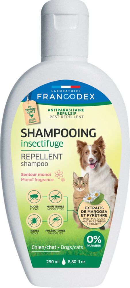 Shampooing insectifuge monoi chien et chat