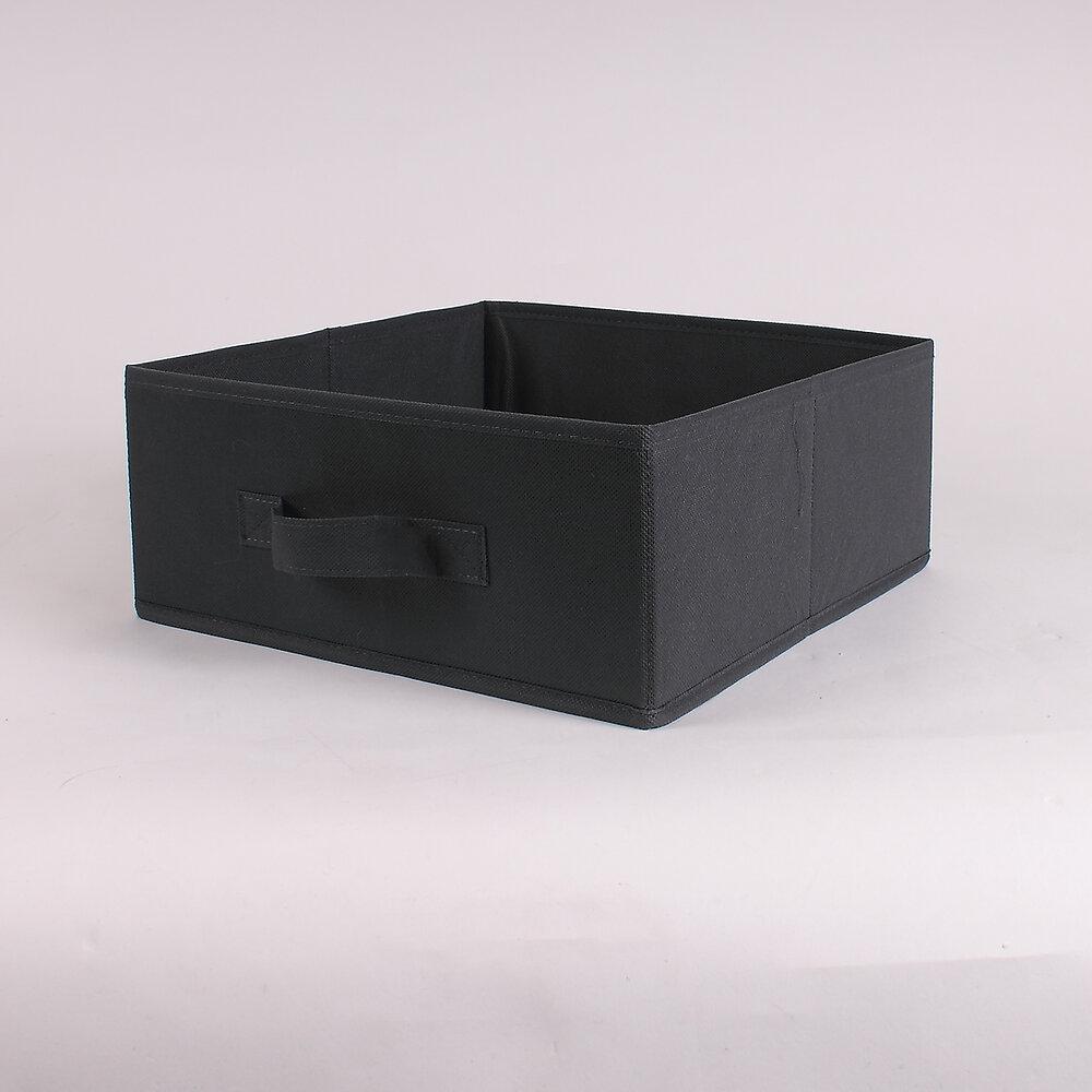 Tiroir pliable intissé gris 28x28x13cm