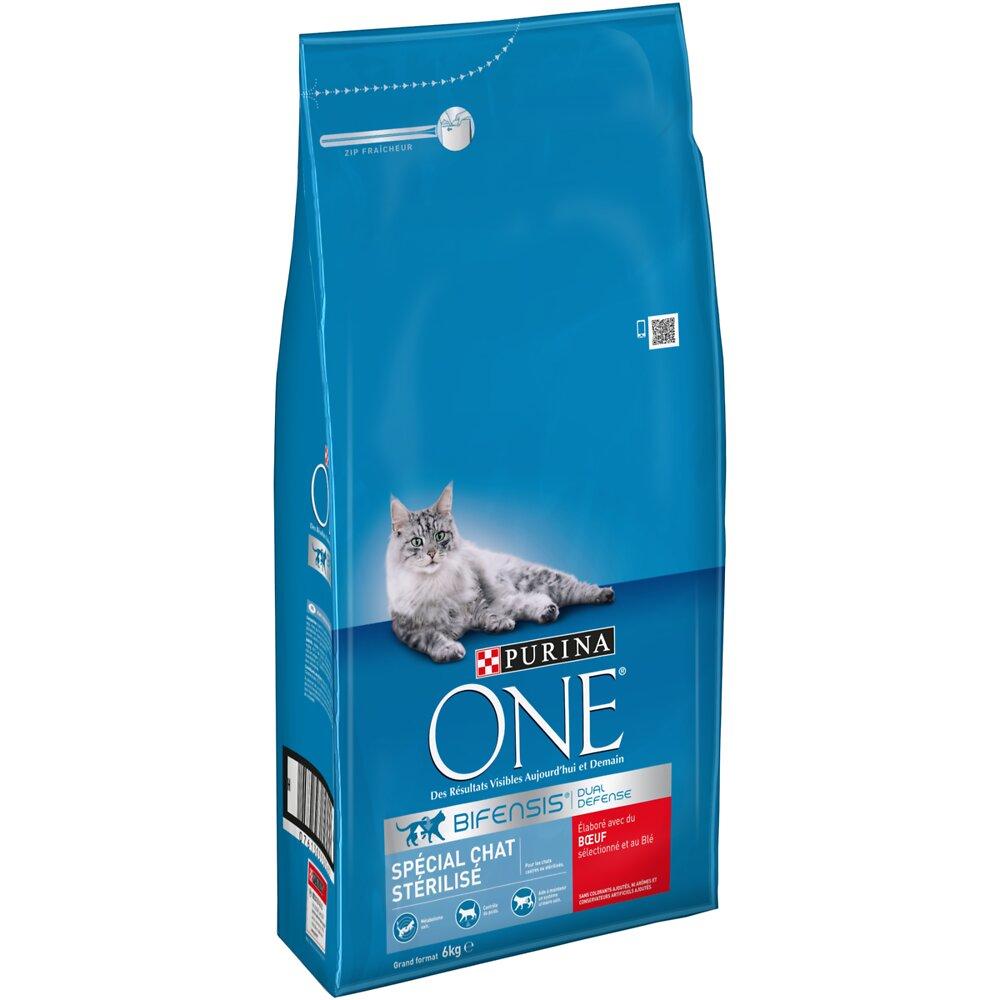 Croquettes chat stérilisé - Boeuf et Blé - 6kg