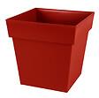 Pot de fleurs carré bas Toscane 39cm 38L rouge rubis
