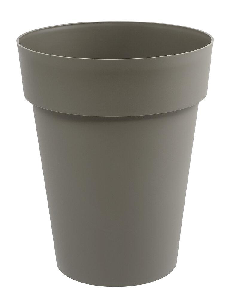 Pot de fleurs vase mi haut Toscane d.44cm 50L taupe