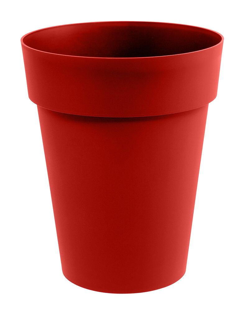 Pot de fleurs vase mi haut Toscane d.44cm 50L rouge