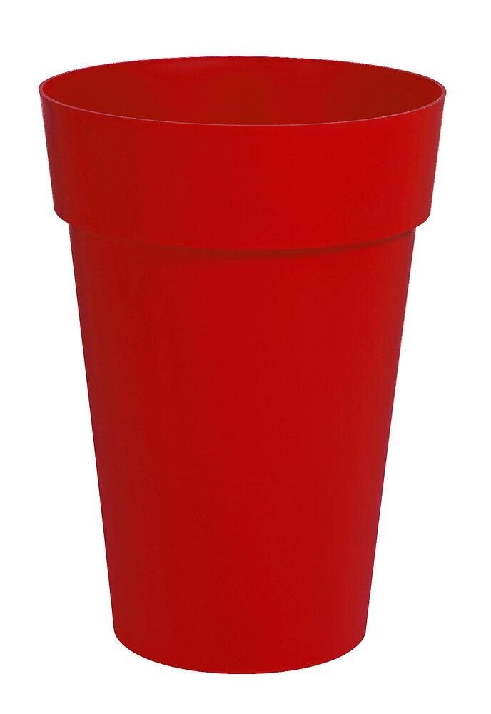 Pot de fleurs vase haut Toscane d.46cm 67L rouge