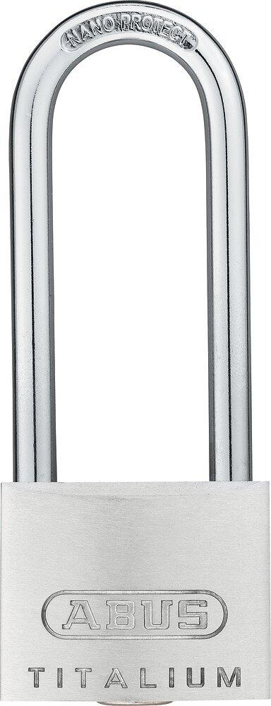 Cadenas à clé Titalium 727-40mm hauteur anse 63mm, 2 clés