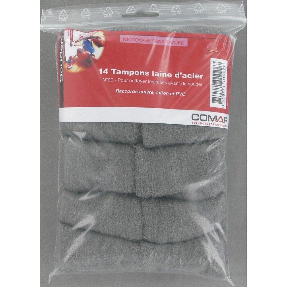 Sachet de 14 tampons de laine d'acier