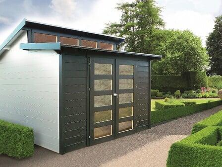 Abri de jardin MILANO épaisseur 28 mm 299 x 299 cm