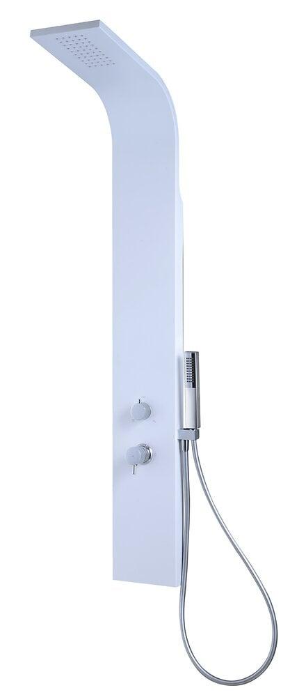 Panneau de douche mécanique blanc