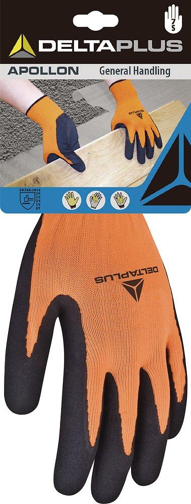 Gants PES orange latex taille 9