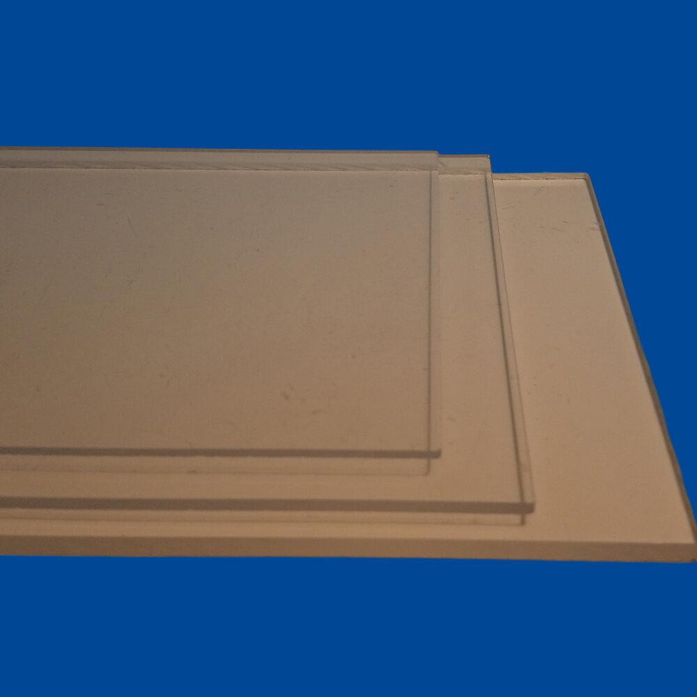 Plaque styrène clair 8mm 0.50x1m