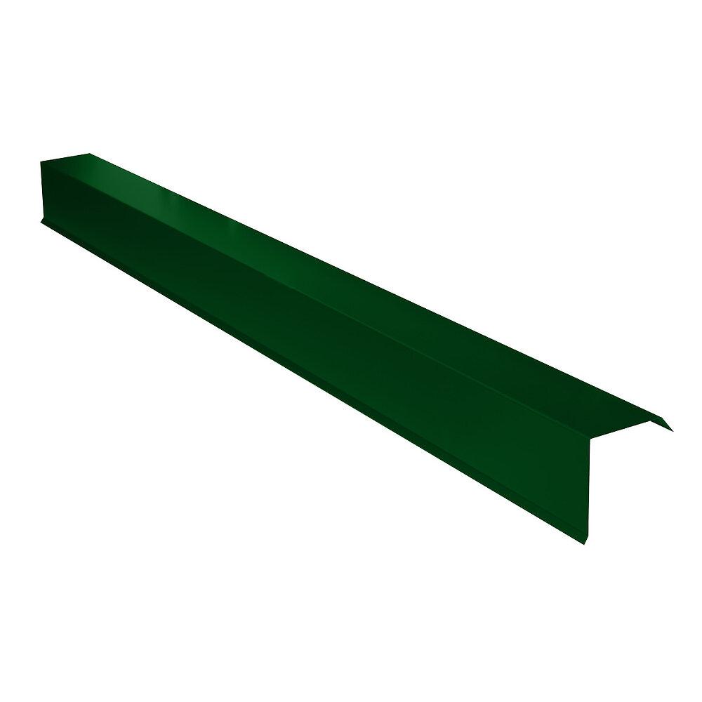Rive pour plaque nervurée vert Lg.2100mm