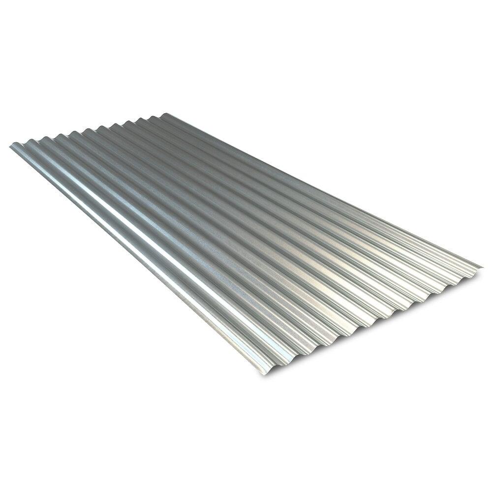 Plaque ondulée galvanisée Lg.2000mm x Largeur 760mm