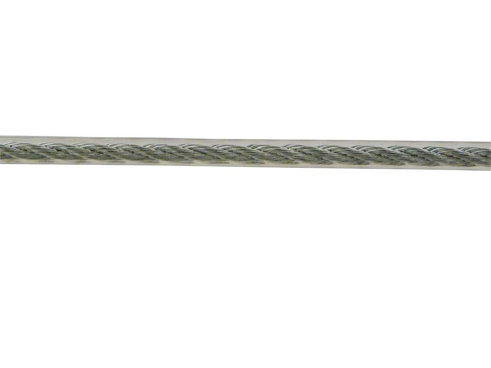Couronne câble âme textile gainé PVC cristal  6x7