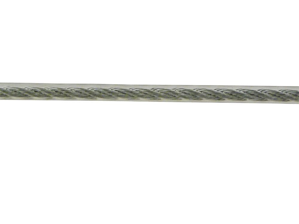 Câble laitonné gainé D. extérieur 4 mm le mètre
