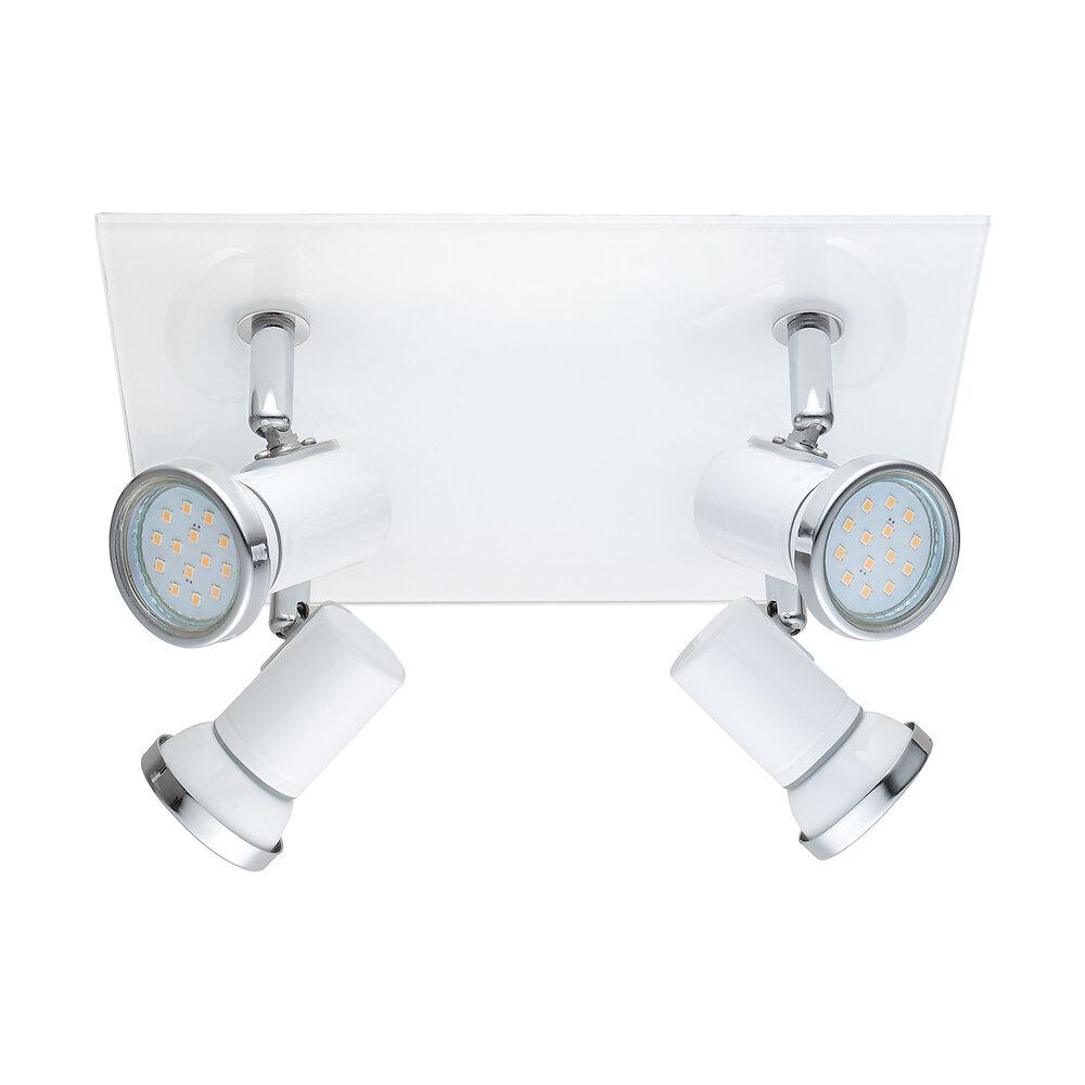 Plafonnier salle de bain 4 lumières Tamara1 blanc