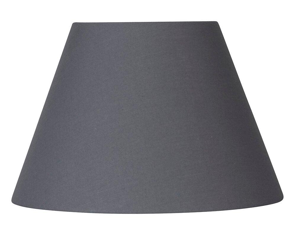 Abat-jour forme conique D14 en coton gris ardoise