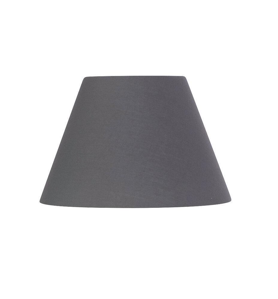 Abat-jour forme conique D22 en coton gris ardoise