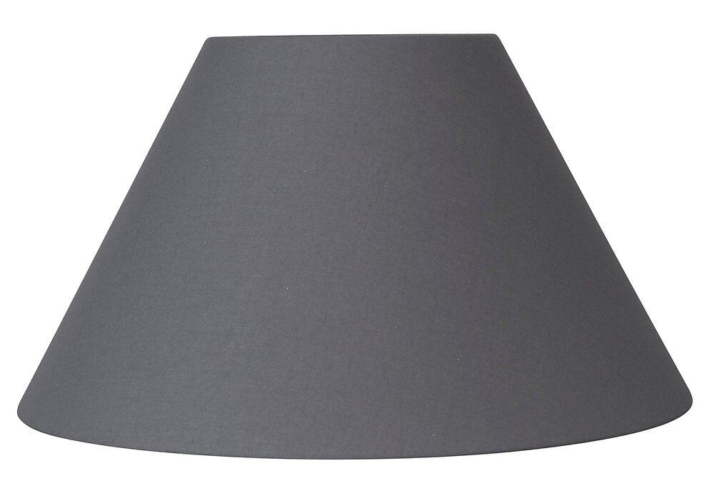 Abat-jour forme conique D40 en coton gris ardoise