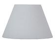 Abat-jour forme conique D19 en coton gris tourterelle