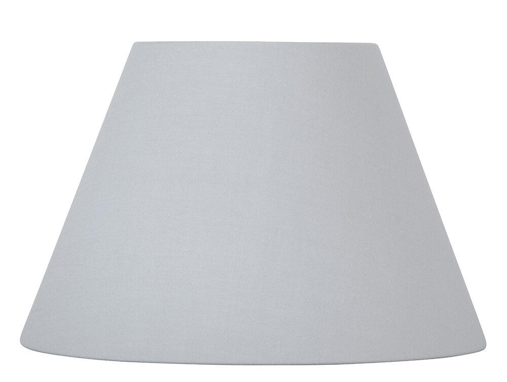 Abat-jour forme conique D22 en coton gris tourterelle