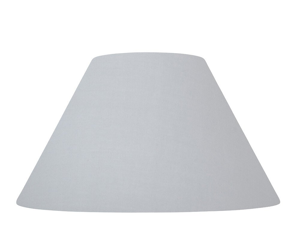 Abat-jour forme conique D30 en coton gris tourterelle