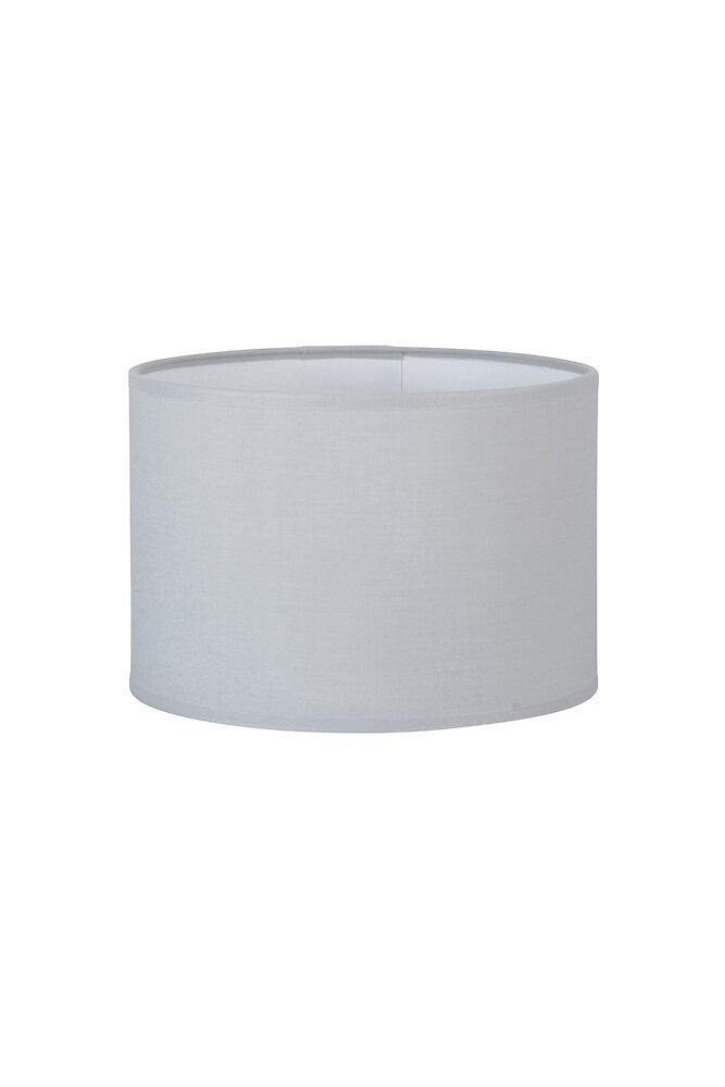 Abat-jour forme cylindre D25 en coton gris tourterelle