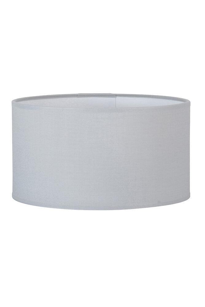 Abat-jour forme cylindre D35 en coton gris tourterelle