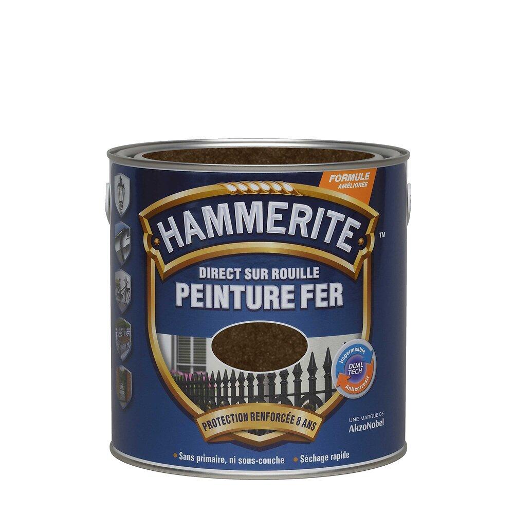 Peinture DIRECT SUR ROUILLE MARTELE Chataîgne 0.25L
