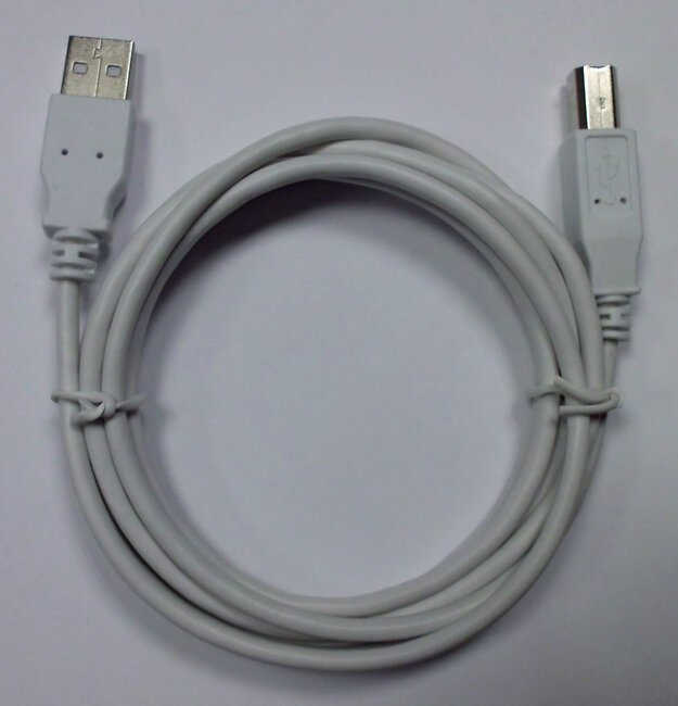 Câble USB-A mâle -B mâle USB 2.0 1.8m - blanc