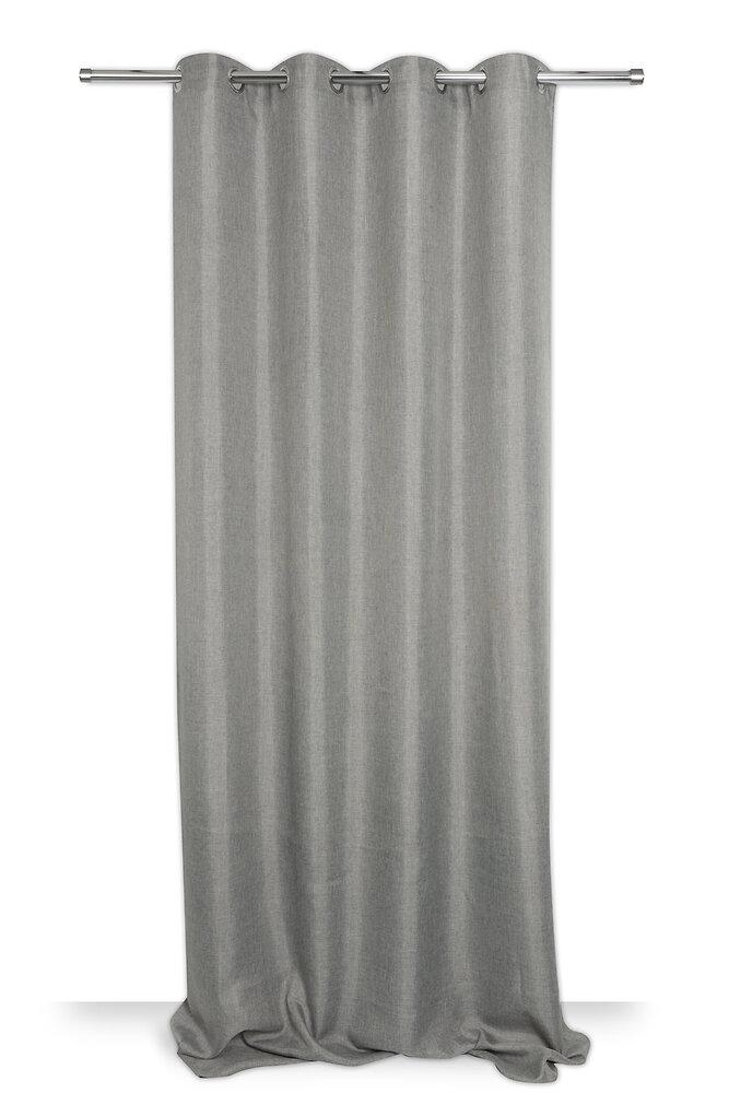 Rideau tissé chiné gris 140x250cm