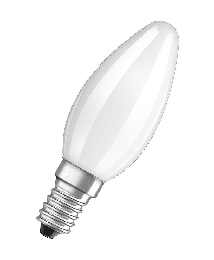 2 Ampoules led flamme verre dépoli 2,8W=25 E14 chaud
