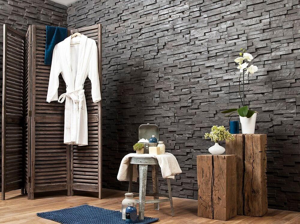 Plaquette de parement pour extérieur/intérieur Ural Black