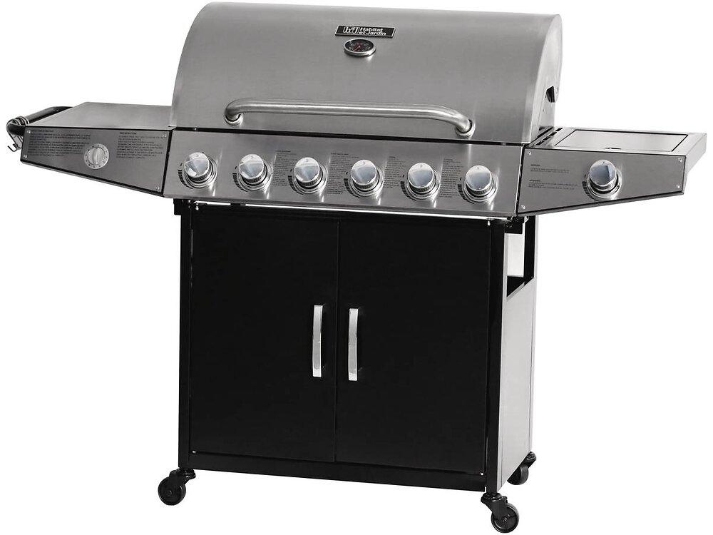 """Barbecue Gaz """"party 6"""" - 7 Brûleurs Dont 1 Latéral - 20.9 Kw"""