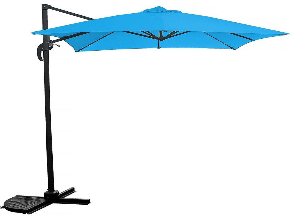 """Parasol Jardin Déporté """"soleil"""" - 2.5 X 2.5 M - Bleu"""