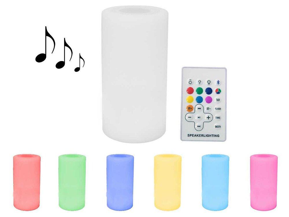 """Eclairage Led Sonore Bluetooth De Jardin """"rosa 1"""" - Ø14 X H27 Cm"""
