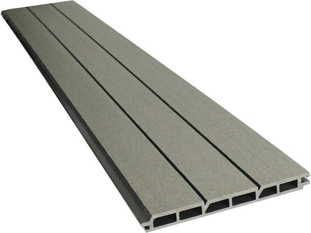 Lot De 6 Lames Composite De Clôture - L160 Cm X L20cm X Ép. 2cm - Gris