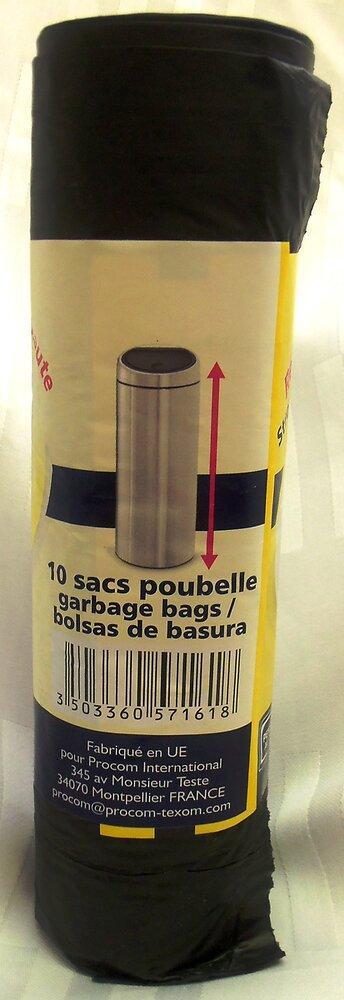 Sac poignées poubelle haute 50L 60x80cm
