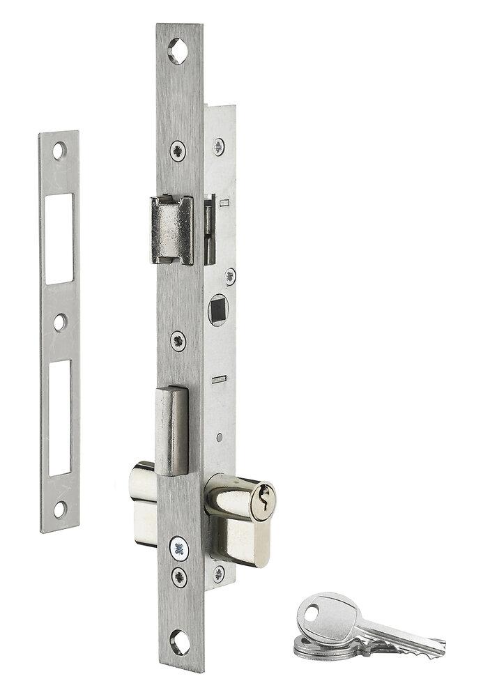 Serrure encastrer axe 10.5mm entraxe 70mm cylindre réversible 3 clés