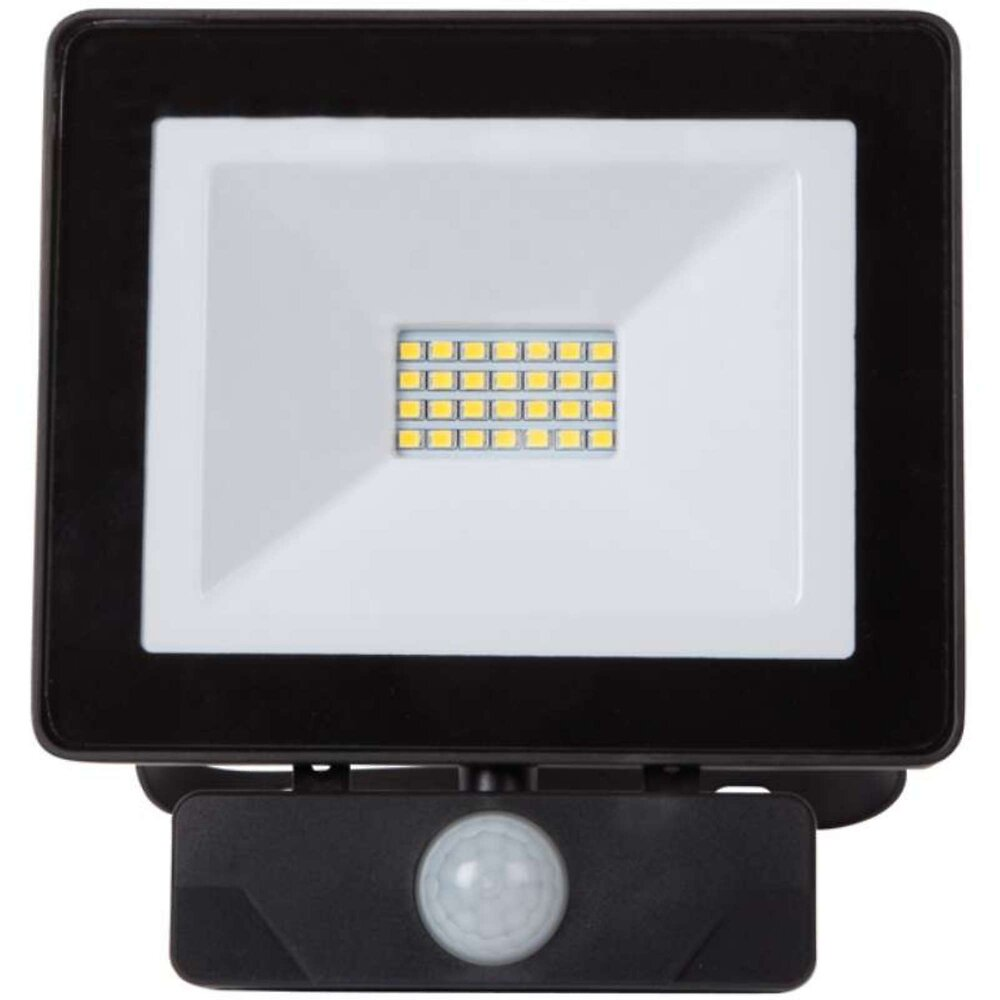 Projecteur Plat Noir 20w Led Avec Radar