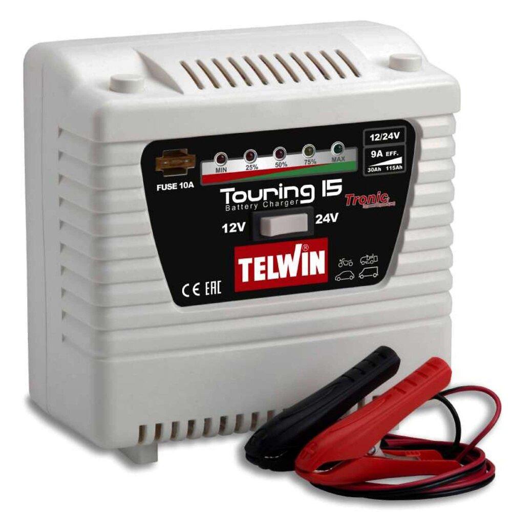 Chargeur De Batterie 12v-24v Telwin Touring 15