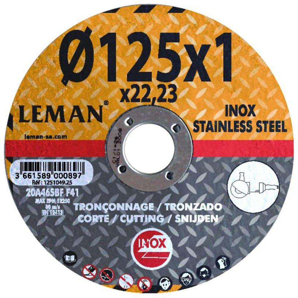 Lot De 5 Disques 125 Mm Spécial Inox