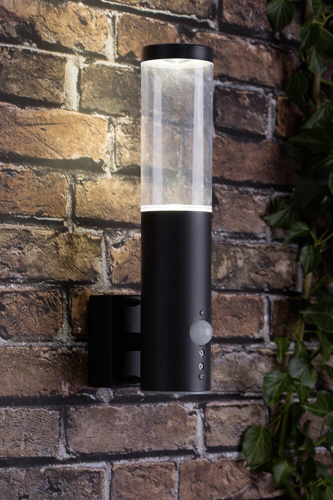 Applique extérieure bergen avec détecteur 4W led anthracite