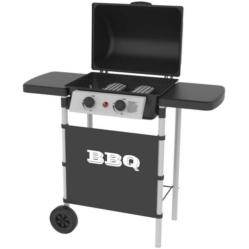 Barbecue À Gaz 2 Brûleurs Inox Silver Style