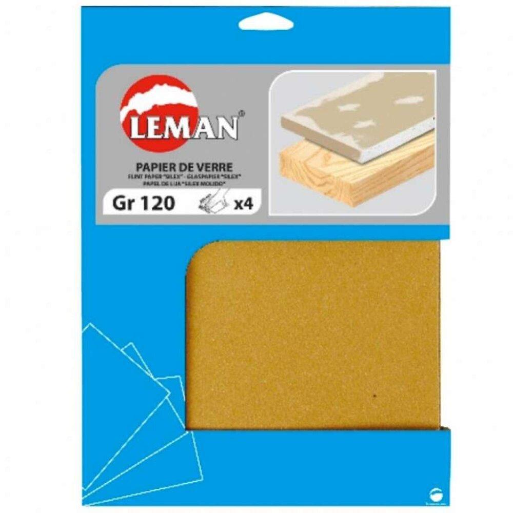 Lot De 4 Feuilles De Papier De Verre 80 Grammes    230 X 280 Mm