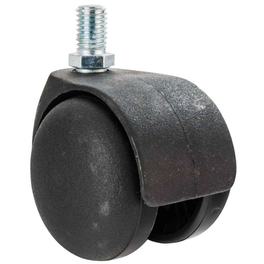 Roulette Double 5cm Avec Axe Fileté