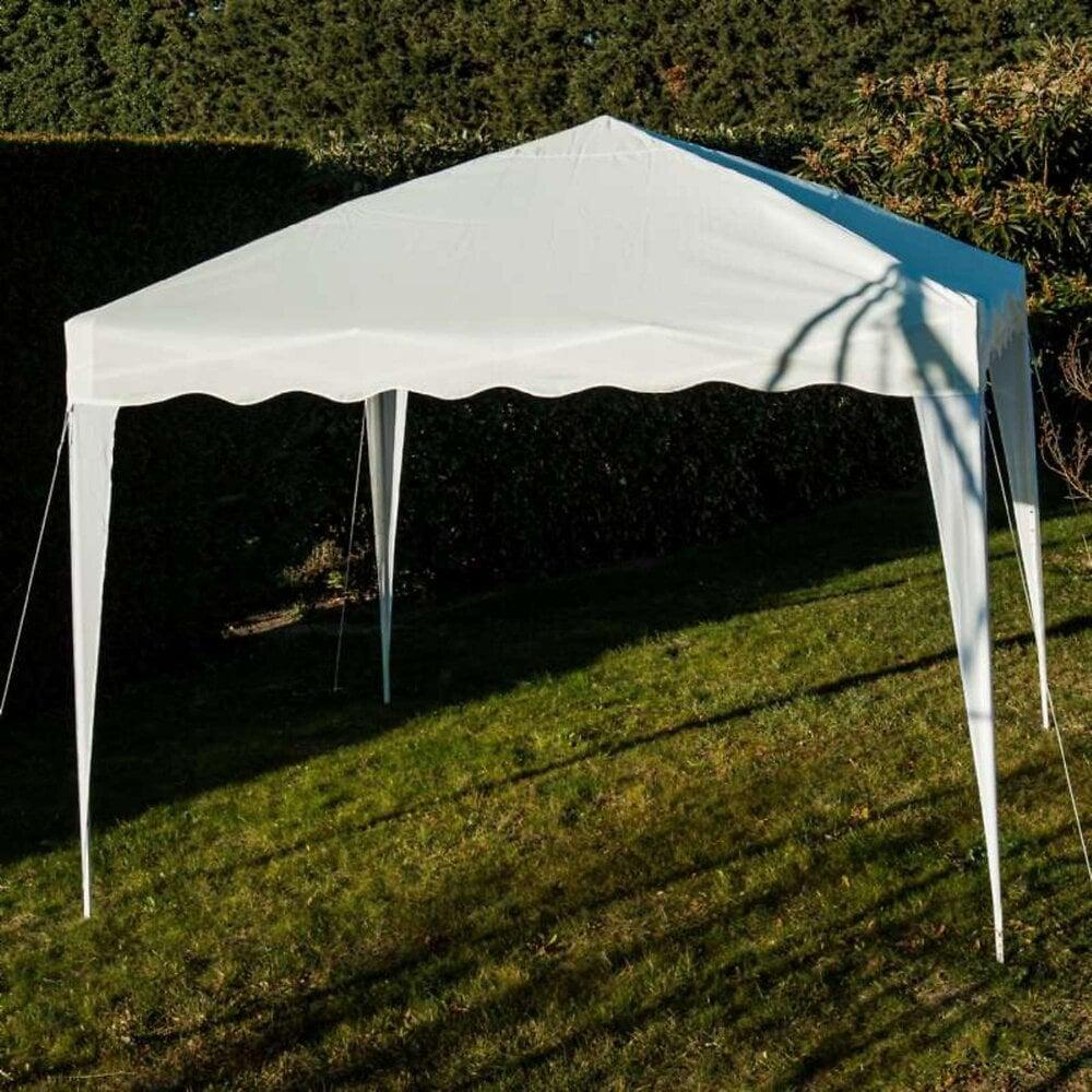 Tente Pliable 3x3m Blanche-tonnelle