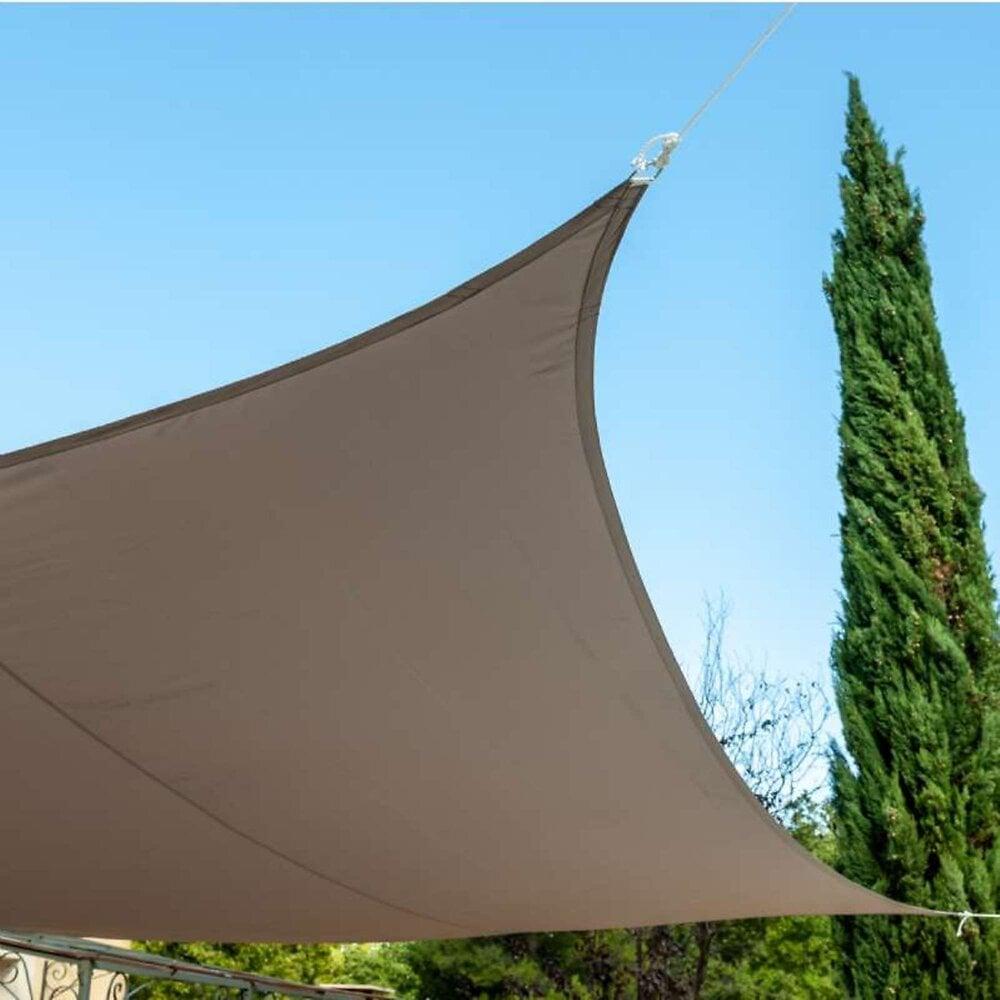 Voile D'ombrage Carrée Couleur Taupe  3,6x3,6m  Werkapro