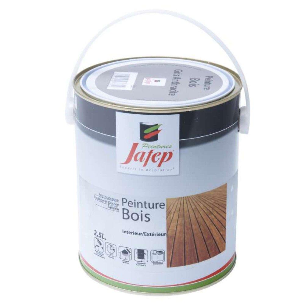 Peinture Bois Gris Anthracite Jafep 2,5 L
