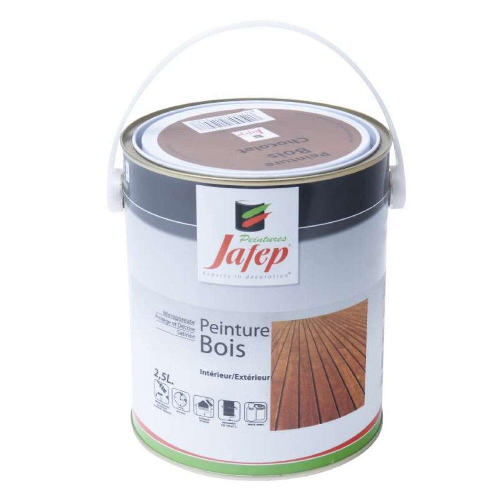 Peinture Bois Chocolat Jafep 2,5 L