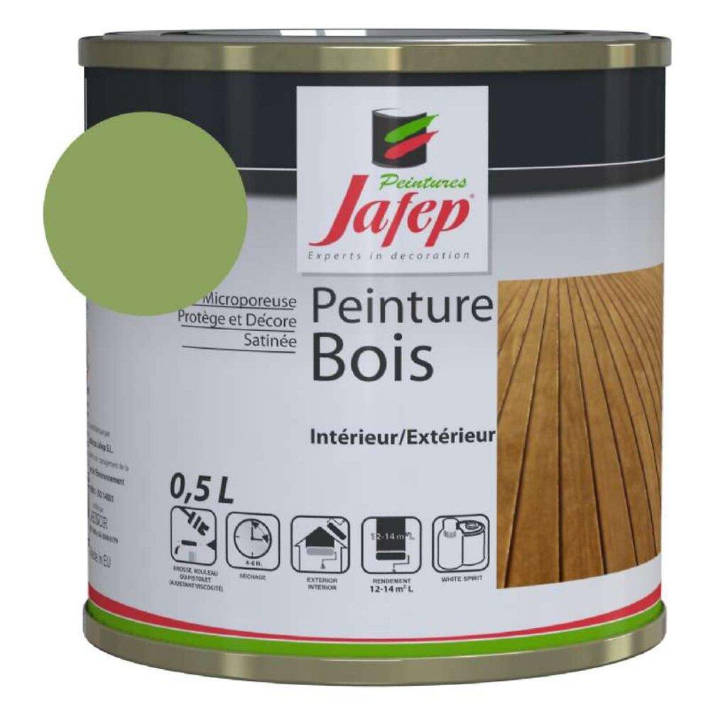 Peinture Bois Vert Savane 0,5l Jafep 0,5 L